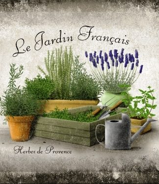 LE JARDIN FRANCAIS SMALL EMBOSSED METAL SIGNS