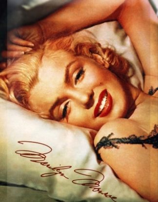 MARILYN MONROE IN BED MEDIUM MEDIUM SIZE METAL SIGNS