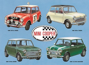 MINI COOPER COLLAGE LARGE METAL SIGNS