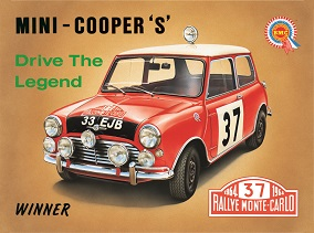 """MINI COOPERS """"S"""" LARGE METAL SIGNS"""
