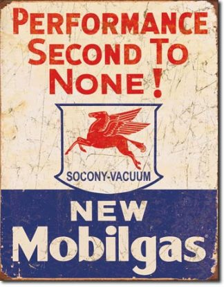 MOBIL GAS SECOND TO NONE LARGE METAL SIGNS