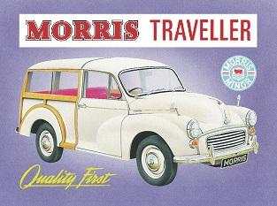MORRIS TRAVELLER LARGE METAL SIGNS