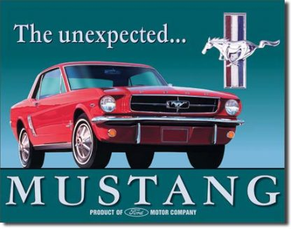 MUSTANG THE UNEXPECTED LARGE METAL SIGNS