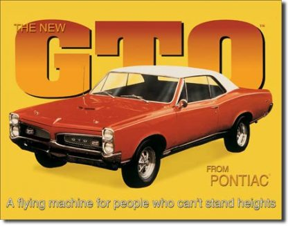 PONTIAC GTO LARGE METAL SIGNS