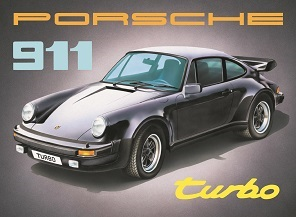 PORSCHE 911 TURBO LARGE METAL SIGNS
