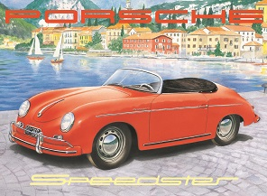 PORSCHE SPEEDSTER LARGE METAL SIGNS