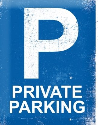 PRIVATE PARKING METAL SIGN