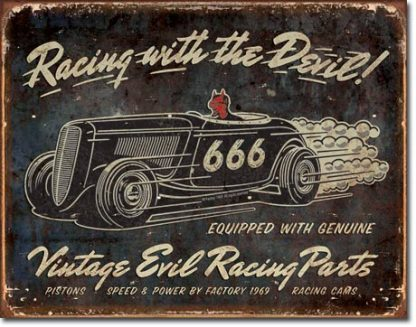 RACING WITH THE DEVIL LARGE METAL SIGNS