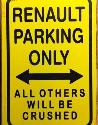 RENAULT PARKING RUSTY TIN SIGN