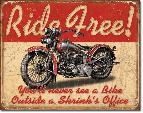 RIDE FREE LARGE METAL SIGNS