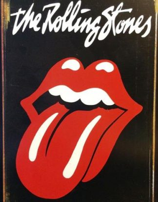 ROLLING STONES TONGUE RUSTY TIN SIGN