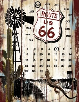 ROUTE 66 & GARAGE MEDIUM SIZE METAL SIGNS