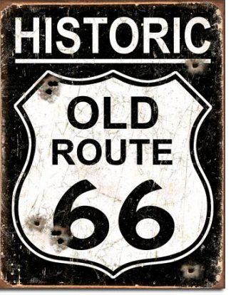 ROUTE 66 HISTORIC ROUTE LARGE METAL SIGNS