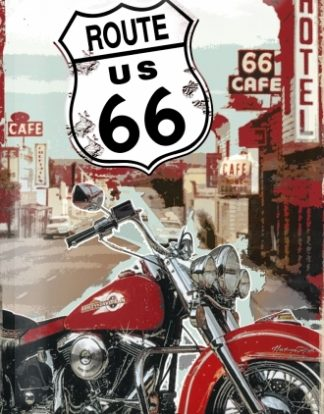 ROUTE 66 HOTEL 66 CAFE MEDIUM SIZE METAL SIGNS