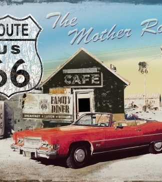ROUTE THE MOTHER ROAD LARGE METAL SIGNS