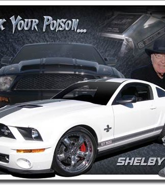 SHELBY PICK YOUR POISON LARGE METAL SIGNS