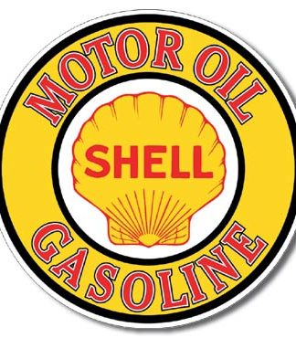 SHELL GASOLINE ROUND LARGE METAL SIGNS