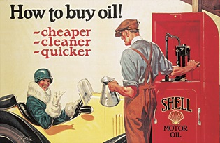SHELL HOW TO BUY OIL LARGE METAL SIGNS