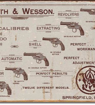 SMITH & WESSON COLLAGE LARGE METAL SIGNS