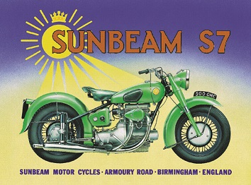 SUNBEAM S7 MOTORCYCLES 500 OHC LARGE METAL SIGNS