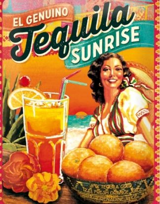 TEQUILA SUNRISE METAL SIGN