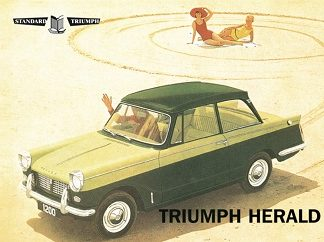 TRIUMPH HERALD LARGE METAL SIGNS