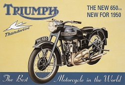 TRIUMPH THUNDERBIRD THE NEW 650cc LARGE METAL SIGNS