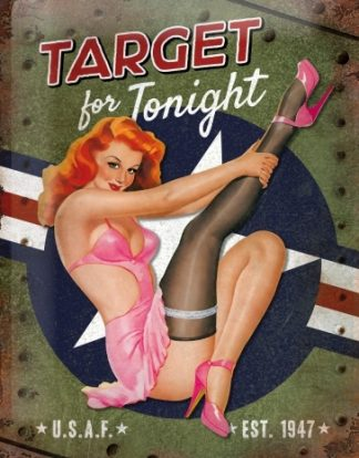 USAF TARGET FOR TONIGHT METAL SIGN