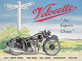 VELLOCETTE AN EXPERT'S CHOICE LARGE METAL SIGNS