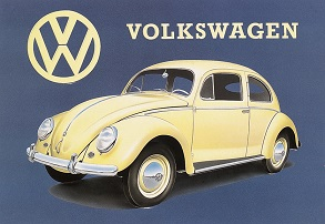 VOLKSWAGEN BEETLE LARGE METAL SIGNS