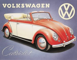VOLKSWAGEN CABRIOLET LARGE METAL SIGNS