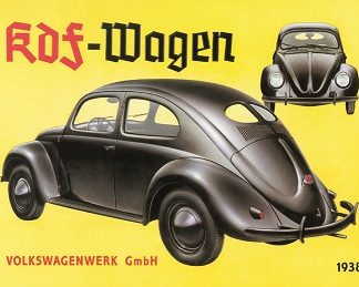 VOLKSWAGEN KDF WAGEN LARGE METAL SIGNS