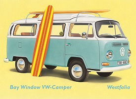 VOLKSWAGEN KOMBI SURFER WESTFALIA LARGE METAL SIGNS