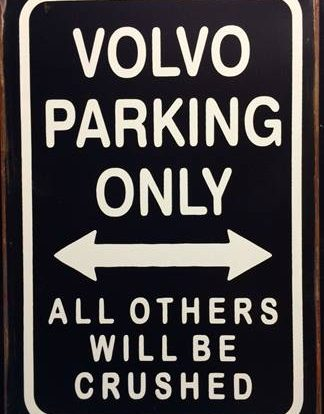 VOLVO PARKING RUSTY TIN SIGN