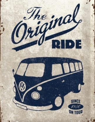 VW KOMBI THE ORIGINAL RIDE MEDIUM SIZE METAL SIGNS