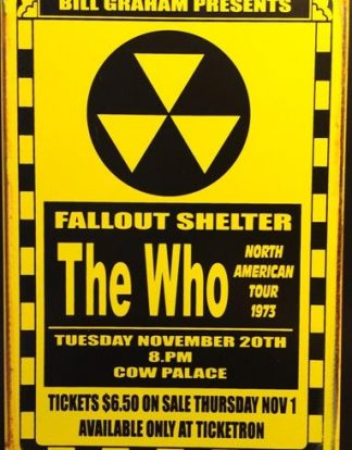 WHO FALLOUT SHELTER RUSTY TIN SIGN