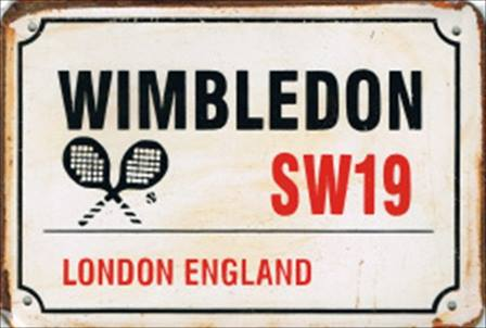 WIMBLEDON RUSTY TIN SIGN
