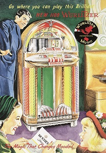 WURLITZER 1100 JUKE BOX LARGE METAL SIGNS
